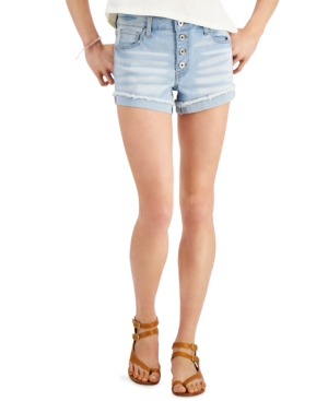 Juniors' Curvy Distressed Shorts