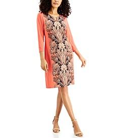 3/4-Sleeve Printed Dress, Created for Macy's