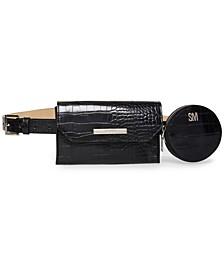 Croc-Embossed Multi-Bag Belt Bag