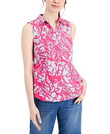 Petite Button-Up Shirt, Created for Macy's