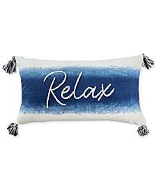 "Relax 14"" x 24"" Decorative Pillow"