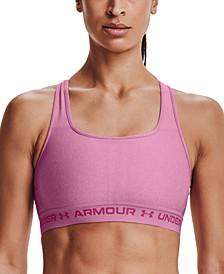 Women's HeatGear® Mid-Impact Crossback Sports Bra