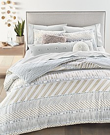 Watercolor Stripe Reversible 3-Pc. Comforter Sets, Created For Macy's
