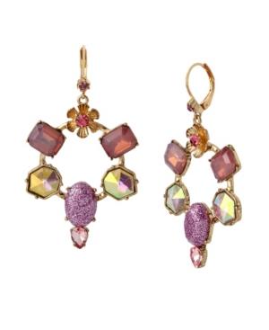 Stone Gypsy Hoop Earrings
