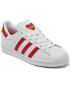 Big Girls Valentine's Day Superstar Casual Sneakers from Finish Line