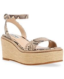 Women's Composed Raffia Wedge Sandals