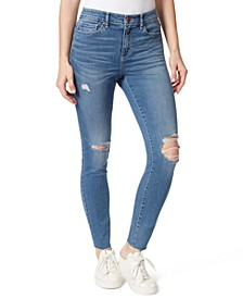 Juniors' Distressed High-Rise Skinny Jeans