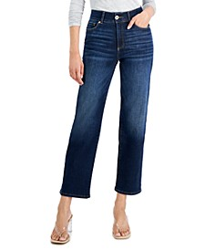 INC Sculpting-Fit Straight-Leg Jeans, Created for Macy's
