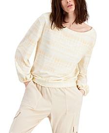 INC Petite EARTH Printed Sweatshirt, Created for Macy's