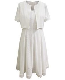 2-Pc. Eyelet Jacket & Midi Dress