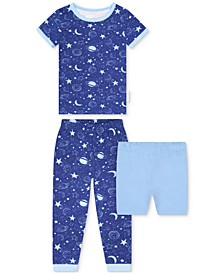 Baby Boys 2-Piece Space-Print Pajama Set with Shorts