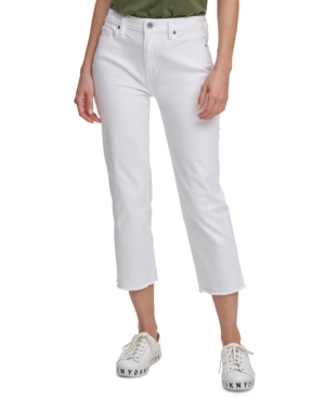 Juniors' Cropped Straight-Leg Jeans