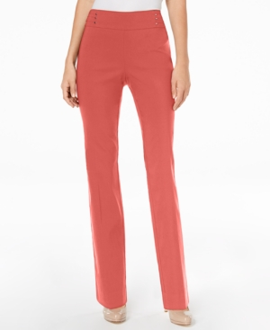 Jm Collection Pants STUDDED PULL-ON TUMMY CONTROL PANTS, REGULAR AND SHORT LENGTHS, CREATED FOR MACY'S