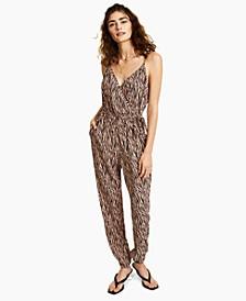 Zebra-Print Jumpsuit, Created for Macy's