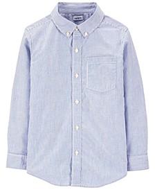 Little Boys Striped Poplin Button-Front Shirt