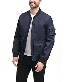 Men's Flight Satin Utility Bomber Jacket
