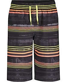 Big Boys Rush Gradient Stripe Swim Shorts