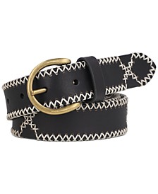 Women's 30MM Embroidered Leather Belt