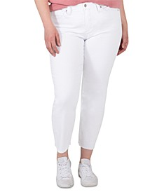 Trendy Plus Size Most Wanted Mid-Rise Straight Crop Jeans