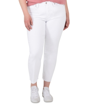 Silver Jeans Co. TRENDY PLUS SIZE MOST WANTED MID-RISE STRAIGHT CROP JEANS