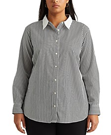 Plus Size Pinstripe Top