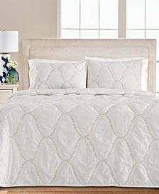 Floral Embroidered Geo King Quilt, Created for Macy's