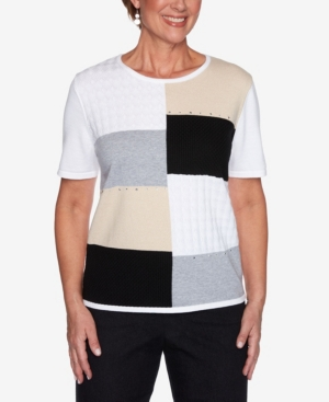 Alfred Dunner PLUS SIZE CLASSICS S1 COLORBLOCK SWEATER