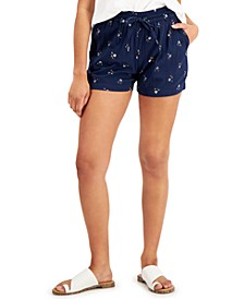 Petite Printed Drawstring Shorts, Created for Macy's