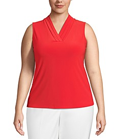Plus Size V-Neck Sleeveless Top