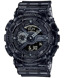 Men's Analog-Digital Clear Smoke Resin Watch 51.2mm