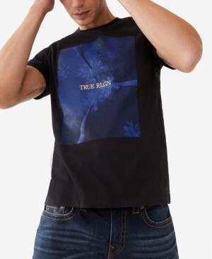 True Religion MEN'S PALM TREE SHORT SLEEVE CREWNECK TEE