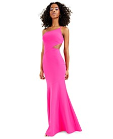 One-Shoulder Side-Cutout Gown