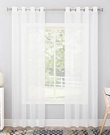 "Calypso Voile Sheer Grommet Curtain Panel, 59"" x 84"""
