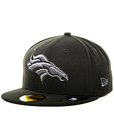 New Era Denver Broncos Black Gray 59FIFTY Hat