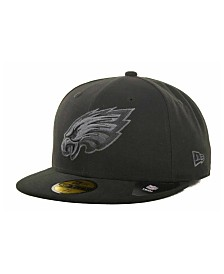New Era Philadelphia Eagles Black Gray 59FIFTY Hat