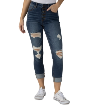 Jeans Juniors' Ripped Cropped Skinny Jeans