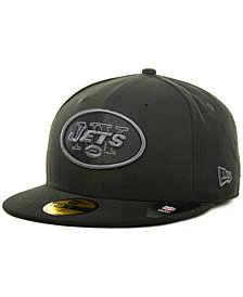 New Era New York Jets Black Gray 59FIFTY Cap