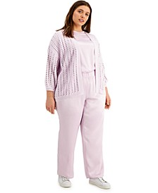 Plus Size Modern Lounge Lavender Set, Created for Macy's
