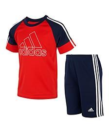 Toddler Boys Goals T-shirt and Shorts Set, 2 Piece