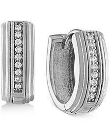 Diamond Hoop Earrings (1/10 ct. t.w.) in Sterling Silver, Created for Macy's (Also in 14k Gold Over Silver)