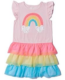 Little Girls Color Blocked Tiered Tutu Dress