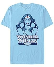 Men's Wonder Woman Arms Crossed Short Sleeve T-shirt