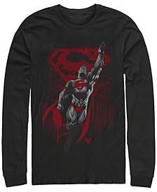Men's Superman Kryptons Living Legacy Long Sleeve Crew T-shirt
