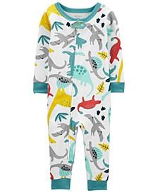 Baby Boys Dinosaur Footless Pajamas