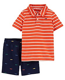 Baby Boys Jersey Polo and Short Set