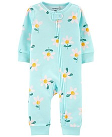 Baby Girls Daisy Zip-Up Footless Sleep and Play One Piece