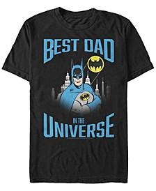Men's Batman Best Bat Dad Short Sleeve T-shirt