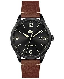 Men's Traveler Tan Leather Strap Watch 43mm