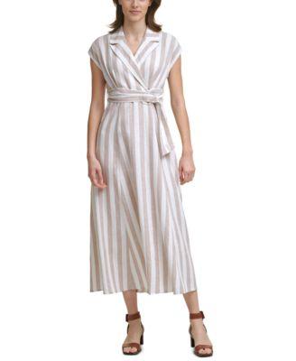 Striped Collared Maxi Dress