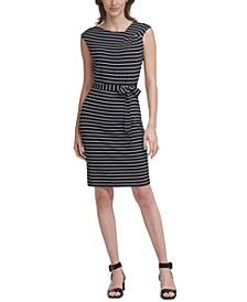 Striped Tie-Waist Dress